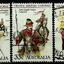 Sellos: AUSTRALIA YV 0893/97 (UNIFORMES MILITARES AUSTRALIANOS DEL Sº XIX) (USADO). Lote 161153333