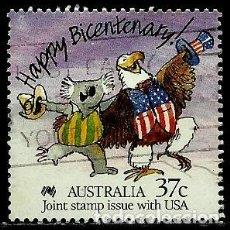 Sellos: AUSTRALIA YV 1050 (EMISION CONJUNTA: USA-AUSTRALIA) (USADO). Lote 210245036