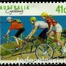 Sellos: AUSTRALIA YV 1126 (DEPORTES: II-CICLISMO) (USADO). Lote 139762890