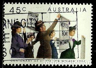 Australia yv 1374 (centenario del voto femenino - Vendido en Venta ...
