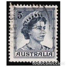 Sellos: AUSTRALIA 1959. MI 292AII, YT 253A. MONARQUÍA. REINA ISABEL. USADO. Lote 143739026