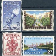 Sellos: AUSTRALIA 1956 IVERT 231/4 * JUEGOS OLIMPICOS DE MELBOURNE - DEPORTES. Lote 145522402