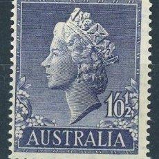 Sellos: AUSTRALIA 1955 IVERT 218 *** SERIE BÁSICA - REINA ISABEL II . Lote 145522670