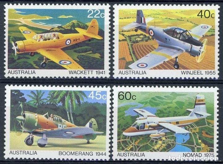 AUSTRALIA 1980 IVERT 722/25 *** AVIONES AUSTRALIANOS (Sellos - Extranjero - Oceanía - Australia)