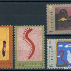Sellos: AUSTRALIA 1993 IVERT 1318/21 *** ARTE ABORIGEN - CUADROS DE ARTISTAS AUSTRALIANOS. Lote 145526986