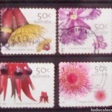 Sellos: AUSTRALIA FLORES SERIE DE SELLOS USADOS. Lote 150936388