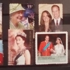 Sellos: AUSTRALIA FAMILIA REAL BRITÁNICA LOTE DE SELLOS USADOS. Lote 151211944
