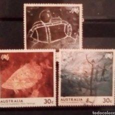 Sellos: AUSTRALIA ARTE RUPESTRE SERIE DE SELLOS USADOS. Lote 151382248