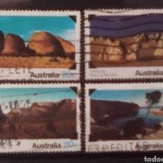Sellos: AUSTRALIA PAISAJES SERIE DE SELLOS USADOS. Lote 151224985