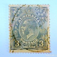 Sellos: SELLO POSTAL AUSTRALIA 1926, 3 D. REY GEORGE V , USADO. Lote 153211590