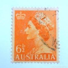 Sellos: SELLO POSTAL AUSTRALIA 1954, 6 1/2 D. ELIZABETH II , USADO . Lote 153212470