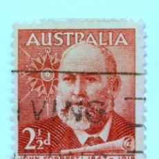 Sellos: SELLO POSTAL AUSTRALIA 1949, 2 1/2 D. JOHN FOREST, CONMEMORATIVO, USADO. Lote 153276950