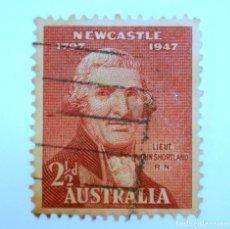 Sellos: SELLO POSTAL AUSTRALIA 1947, 2 1/2 D. JOHN SHORTLAND, CONMEMORATIVO,USADO. Lote 153276966