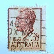 Sellos: SELLO POSTAL AUSTRALIA 1951, 3 1/2 D. REY GEORGE VI, USADO. Lote 153276982