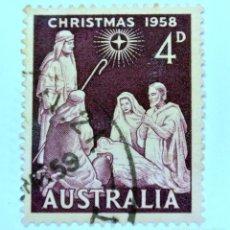 Sellos: SELLO POSTAL AUSTRALIA 1958, 4 D, NAVIDAD 1958, USADO . Lote 153277254