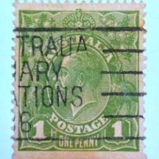 Sellos: SELLO POSTAL AUSTRALIA 1924, 1 D, REY GEORGE V, USADO. Lote 153277346