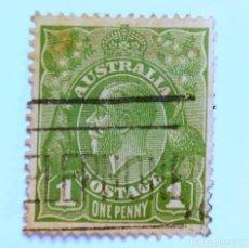 Sellos: SELLO POSTAL AUSTRALIA 1931, 1 D, REY GEORGE V, USADO . Lote 153277454