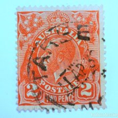 Sellos: SELLO POSTAL AUSTRALIA 1930, 2 D, REY GEORGE V, USADO. Lote 153277886