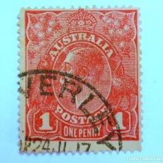 Sellos: SELLO POSTAL AUSTRALIA 1914, 1 D, REY GEORGE V, USADO. Lote 153278086