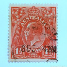 Sellos: SELLO POSTAL AUSTRALIA 1924, 1 1/2 D, REY GEORGE V, USADO. Lote 153278238