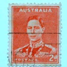Sellos: SELLO POSTAL AUSTRALIA 1938, 2 D, REY GEORGE VI, USADO. Lote 153298366