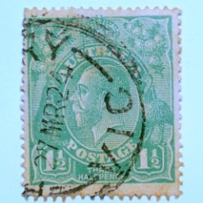 Sellos: SELLO POSTAL AUSTRALIA 1923, 1 1/2 D, REY GEORGE V, USADO. Lote 153536694