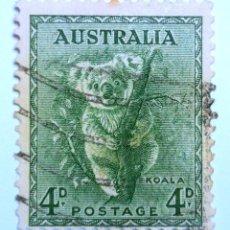 Sellos: SELLO POSTAL AUSTRALIA 1956, 4 D, KOALA , USADO. Lote 153542402