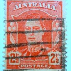 Sellos: SELLO POSTAL AUSTRALIA 1942, 2 1/2 D, REY GEORGE VI, USADO. Lote 153543246