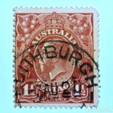 Sellos: SELLO POSTAL AUSTRALIA 1919, 1 1/2 D, REY GEORGE V, USADO. Lote 153562498