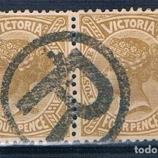 Sellos: SELLO AUSTRALIA VICTORIA SELLO DOBLE USADO. Lote 155874022