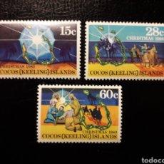 Sellos: ISLAS COCOS (AUSTRALIA) YVERT 53/5 SERIE COMPLETA NUEVA SIN CHARNELA. NAVIDAD. REYES MAGOS.. Lote 156315224