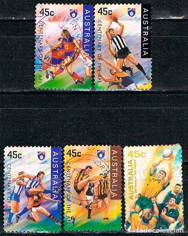 AUSTRALIA Nº 1481/5, CENTENARIO DEL CINE, POSTERS DE PELICULAS AUSTRALIANAS, USADO (SERIE COMPLETA) (Sellos - Extranjero - Oceanía - Australia)