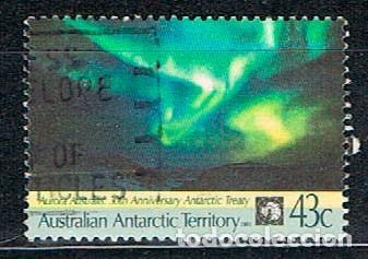 AUSTRALIA, TERRITORIO ANTARTICO Nº 88, PAISAJE ANTARTICO: CALLEJÓN DE ICEBERG, PINTURA, SIDNEY NOLAN (Sellos - Extranjero - Oceanía - Australia)