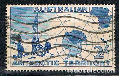 AUSTRALIA, TERRITORIO ANTARTICO Nº 1, EXPEDICIÓN DE VESTFOLD HILLAS, USADO (Sellos - Extranjero - Oceanía - Australia)