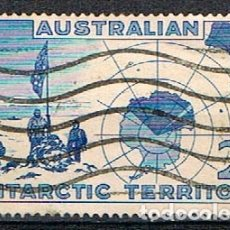 Sellos: AUSTRALIA, TERRITORIO ANTARTICO Nº 1, EXPEDICIÓN DE VESTFOLD HILLS, USADO. Lote 175796635
