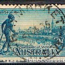 Sellos: AUSTRALIA 117 A, CENTENARIO DE LA COLONIZACIÓN DEL ESTADO DE VICTORIA (AÑO 1934) USADO. Lote 175797734