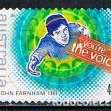 Sellos: AUATRALIA 2042, JOHN FARNHAM, ESTRELLA DEL ROCK AUSTRALIANO, USADO. Lote 175856495