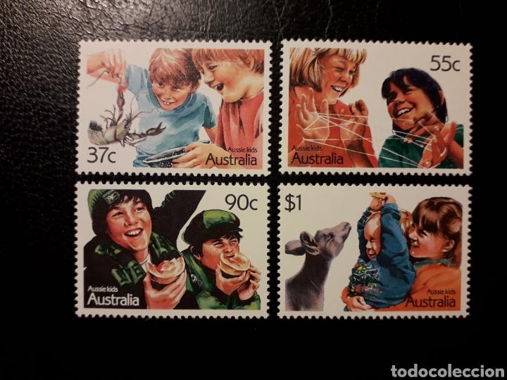 AUSTRALIA. YVERT 1029/32 SERIE COMPLETA NUEVA SIN CHARNELA. NIÑOS. INFANCIA AUSTRALIANA (Sellos - Extranjero - Oceanía - Australia)