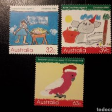 Sellos: AUSTRALIA. YVERT 1103/05 SERIE COMPLETA NUEVA SIN CHARNELA. NAVIDAD. DIBUJOS INFANTILES. Lote 178810905