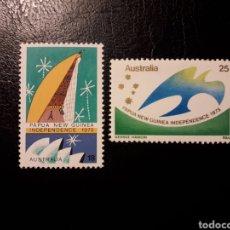 Sellos: AUSTRALIA. YVERT 578/9 SERIE COMPLETA NUEVA SIN CHARNELA. INDEPENDENCIA DE PAPÚA NUEVA GUINEA. Lote 178813173