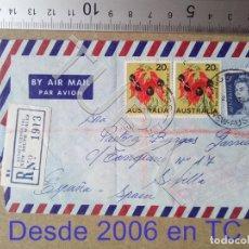 Sellos: TUBAL AUSTRALIA SEVILLA 1968 SOBRE CORREO AEREO ENVIO 70 CENT 2019 T1. Lote 179250667