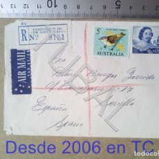 Sellos: TUBAL AUSTRALIA SEVILLA 1966 SOBRE CORREO AEREO ENVIO 70 CENT 2019 T1. Lote 179250883