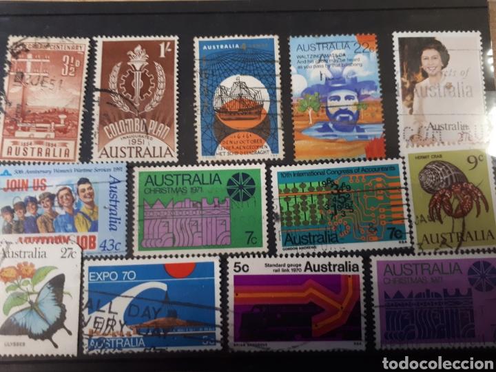 Sellos: 7 FICHAS CON SELLOS USADOS DE AUSTRALIA LOT. P66 - Foto 5 - 181079041