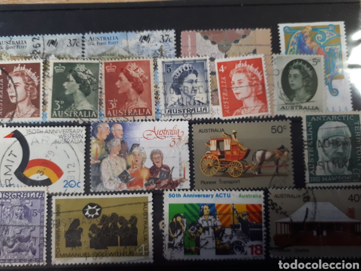 Sellos: 7 FICHAS CON SELLOS USADOS DE AUSTRALIA LOT. P66 - Foto 7 - 181079041