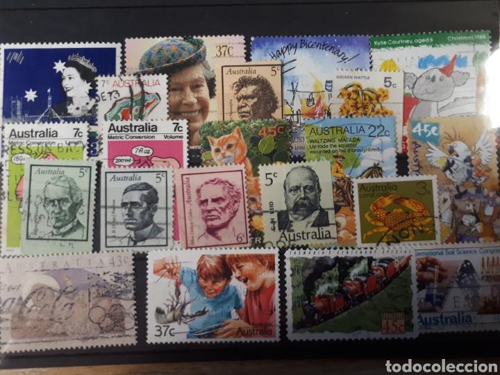 Sellos: 7 FICHAS CON SELLOS USADOS DE AUSTRALIA LOT. P66 - Foto 8 - 181079041