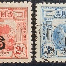 Sellos: AUSTRALIA, SERVICIO. ºYV 60/61. 1932. SERIE COMPLETA. MAGNIFICA. (SG O123/24) YVERT 2011: 100 EUROS. Lote 183145220
