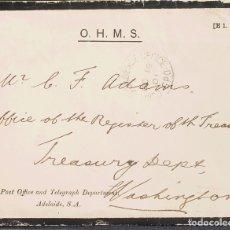 Sellos: AUSTRALIA. SOBRE YV . 1901. CARTA DEL SERVICIO POSTAL DE ADELAIDA A WASHINGTON (U.S.A.), CIRCULADA. Lote 183146105