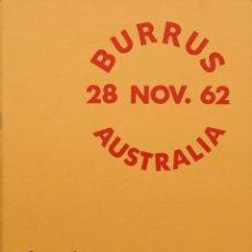 Sellos: AUSTRALIA, BIBLIOGRAFÍA. 1962. CATÁLOGO DE SUBASTA DE ROBSON LOWE BURRUS COLLECTION, SOUTH AUSTRALI. Lote 183147567