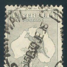 Sellos: AUSTRALIA. ºYV 87A. 1931. 1 LIBRA GRIS. BIEN CENTRADO. MAGNIFICO. YVERT 2017: 250 EUROS. REF: 93368. Lote 183164322