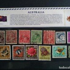 Sellos: COLECCIÓN DE 13 SELLOS DE AUSTRALIA CON MATASELLOS, DE DISTINTOS PERIODOS, ANTIGUOS Y MODERNOS. Lote 186339631